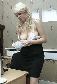 Office Cleavage Pics